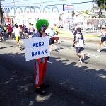 KNOWING THAT MANY RUNNERS OF THE L.A. MARATHON WOULD BE HIGH ON SUGAR AFTER CONSUMING SODAS AND FRUIT JUICE DURING THE RACE, SO THE EVER THOUGHTFUL SNEAKY KNEW THAT THE BEST WAY TO COUNTER BALANCE THIS WOULD BE TO OFFER RUNNERS BEVERAGES CONTAINING HOPS AND GRAINS, KNOWN FOR THERE CALMING EFFECT ON MOST INDIVIDUALS!